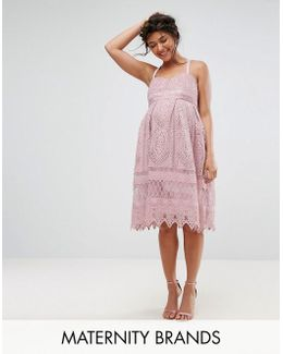 Crochet Cami Midi Dress