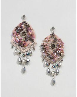Statement Mermaid Crystal Encrusted Earrings