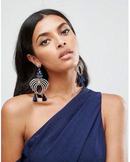 Statement Chandelier Jewel Earrings