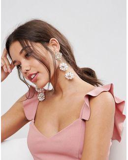 Occasion Pearl Flower Earrings