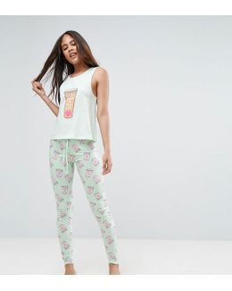 Make Mine A Tall One Pyjama Set