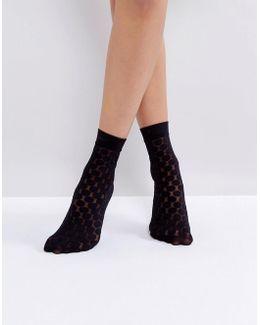 Spot Black Ankle Socks