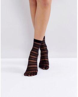 Halo Black Ankle Socks