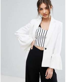 Bell Sleeve Tailored Jacket