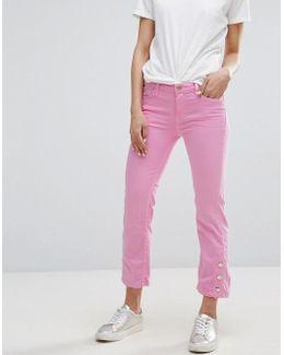 Button Detail Jeans