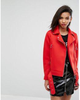 Red Scuba Biker Jacket