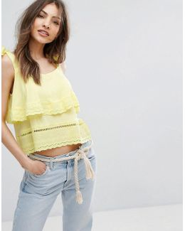 Crochet Ruffle Vest Top