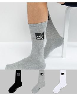 Crew Socks Logo 3 Pack Multi