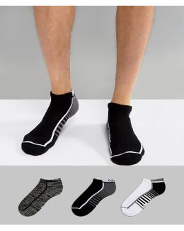 Performance Trainer Sock In 3 Pack Multi With Coolpass