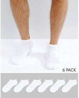 Sneaker Socks In 6 Pack White