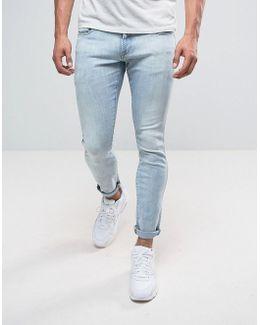 3301 Deconstructed Super Slim Jeans Light Aged Wash