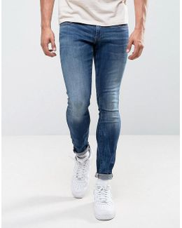 3301 Deconstructed Super Slim Jeans Medium Indigo Aged Wash