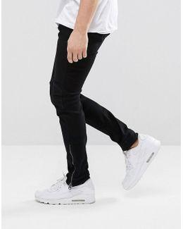5620 3d Ankle Zip Super Slim Jeans Rinse Wash