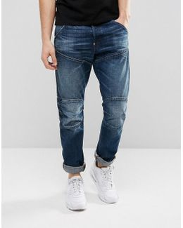 5620 3d Tapered Jeans Dark Aged Wash