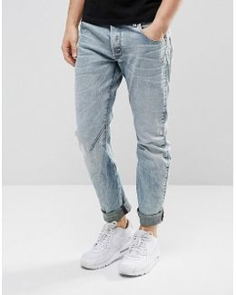 Arc 3d Slim Jeans Light Aged Rip And Repair