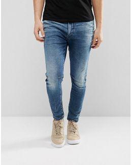 D-staq 3d Super Slim Jeans Medium Aged