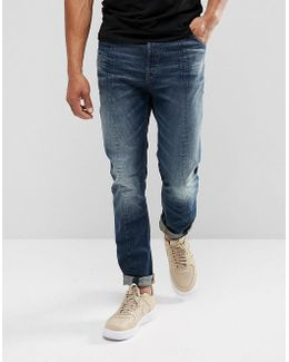 Lanc 3d Tapered Jeans Dark Aged