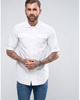 Landoh Straight Service Shirt Short Sleeve White