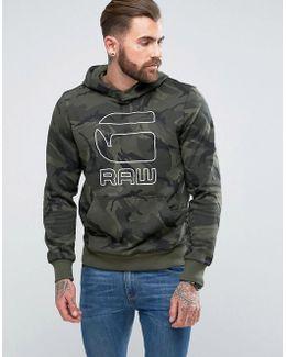 Felor Hooded Camo Sweater