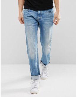 3301 Straight Hadron Stretch Jeans Medium Aged Wash