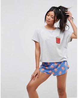 Fry-day Tee & Short Pyjama Set