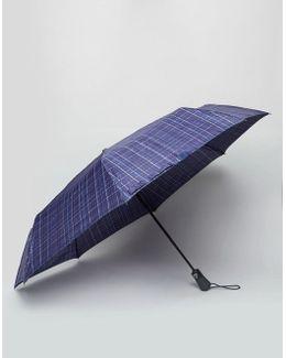 Open & Close Umbrella Navy Check