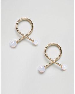 Mermaid Stone Swirl Earrings