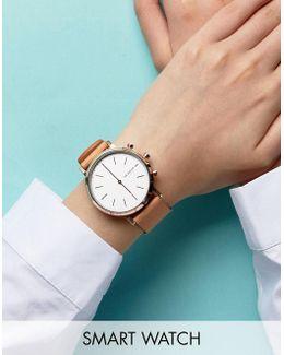 Tan Hald Smart Watch