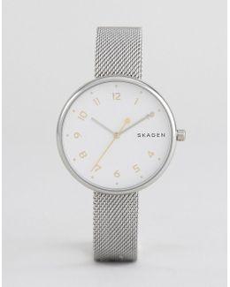 Silver Signatur Mesh Watch
