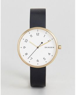 Black Leather Signature Watch