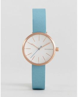 Leather Signature Watch