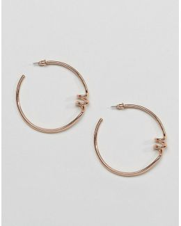 Spring Coiled Hoop Earrings