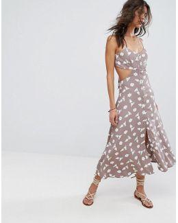 Mallory Cut Out Midi Dress