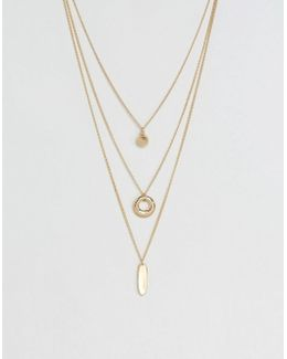 Geo Shapes Multirow Necklace
