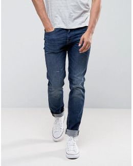 Ed-80 Slim Tapered Jeans Contrast Clean Wash