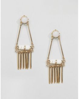 Earrings With Stone Detail