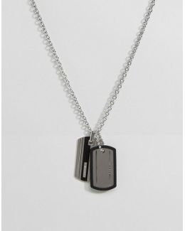 Dogtag Necklace In Silver