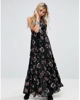 Garden Party Print Maxi Dress