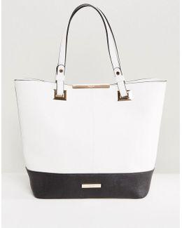Black And White Color Block Shopper