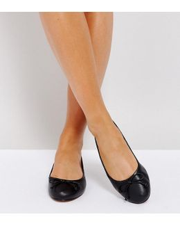 Lifesaver Wide Fit Leather Ballet Flats