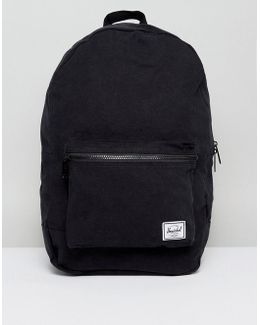 . Packable Daypack In Black Cotton 24.5l