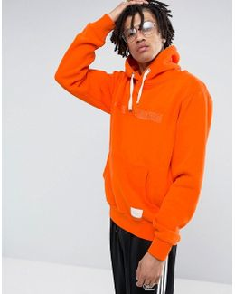 Hoodie In Orange With Embroidered Logo