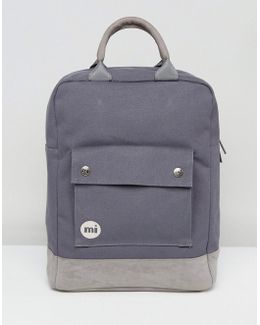Tote Backpack In Charcoal