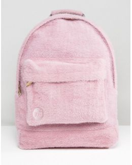 Limited Edition Classic Backpack In Pink Faux Fur