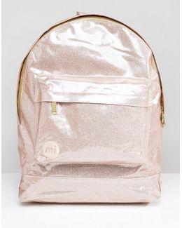 Classic Backpack In Champagne Glitter