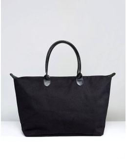 Canvas Weekender Bag In Black