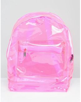 Transparent Classic Backpack In Pink