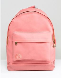 Backpack In Coral Rubber