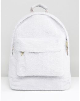 Limited Edition Classic Backpack In Grey Faux Fur