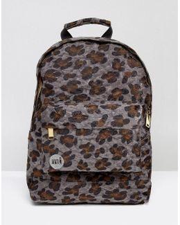 Mini Faux Pony Leopard Print Backpack